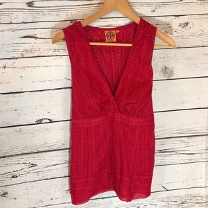 Tory Burch tunic tank top with tie